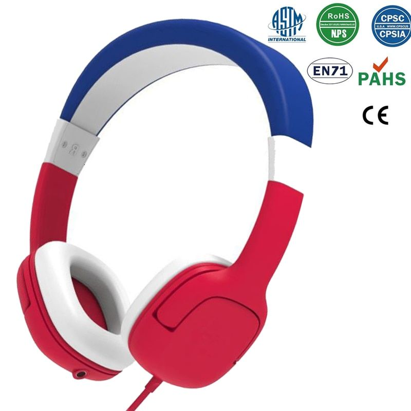 Km 777 Wired Kids Headphones Foldable Safe Volume Headphone With