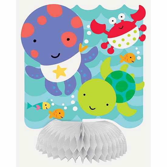 """Under the Sea Pals Mini Centerpieces (includes 6 pcs of 6"""" tall mini honeycomb centerpieces in a pack)"""