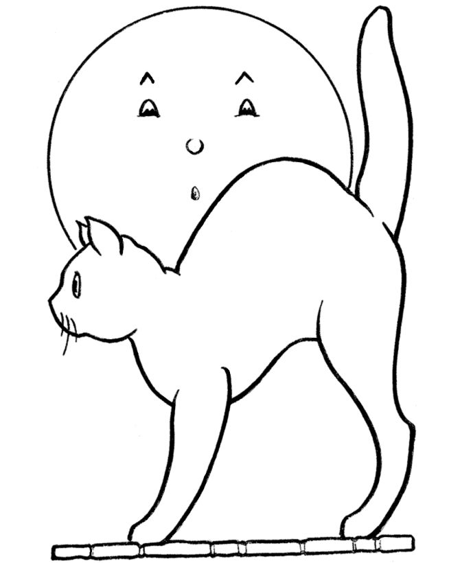 Harvest Moon Halloween Coloring Pages Halloween Coloring Cat Coloring Page