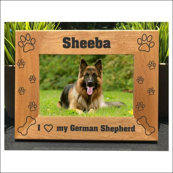 I Love My German Shepherd Personalized Engraved Photo Frame Picture Frame Gift Dog Photo Frames Photo Engraving Photo Frame