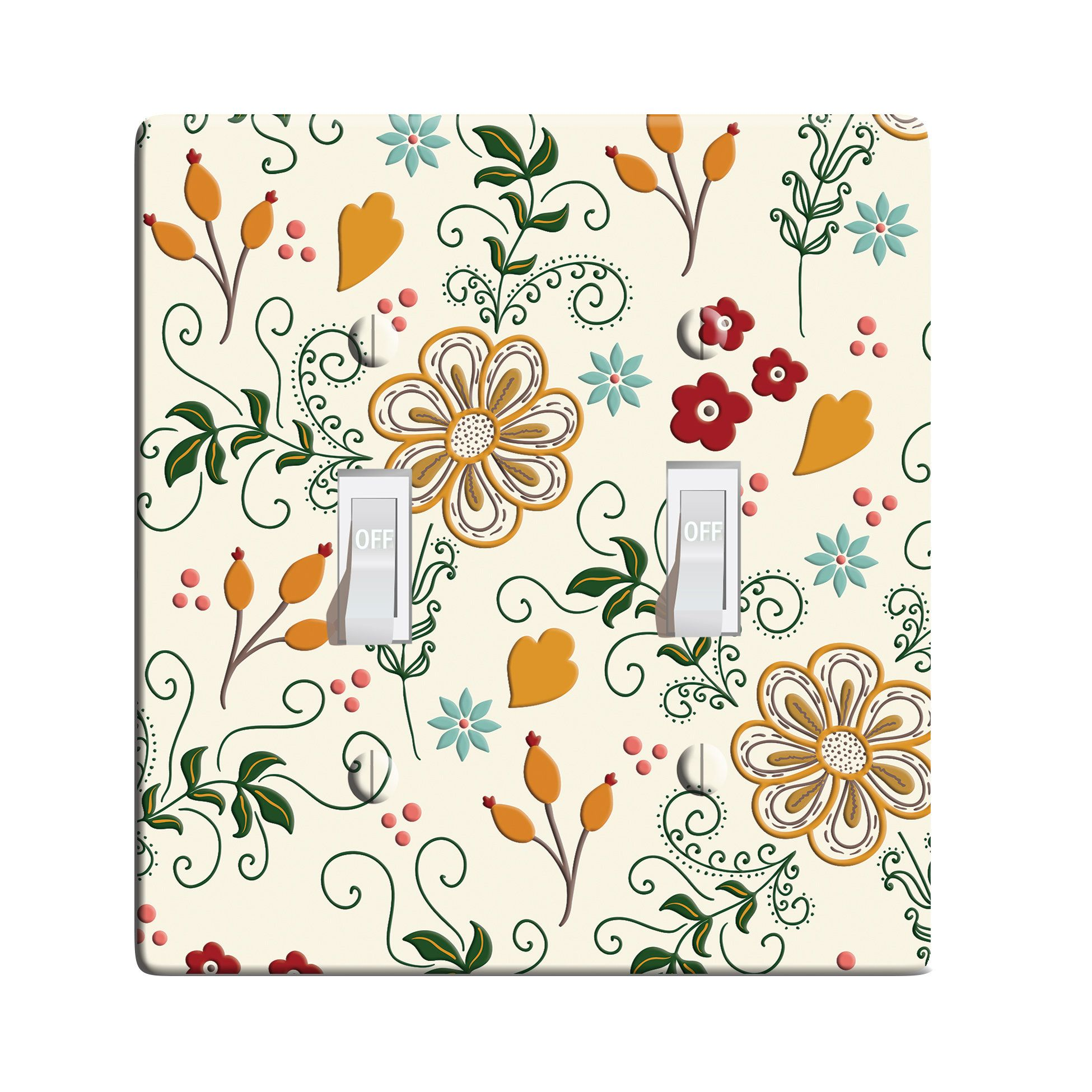 3d Printed Maxi Metal Village Flower Plate Light Switch Outlet Cover Custom Plate Choose Style L0031 Custom Plates Outlet Covers Flower Plates