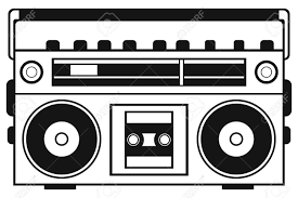 Image Result For Boombox Template Boombox Drawing Boombox Ghetto Blaster