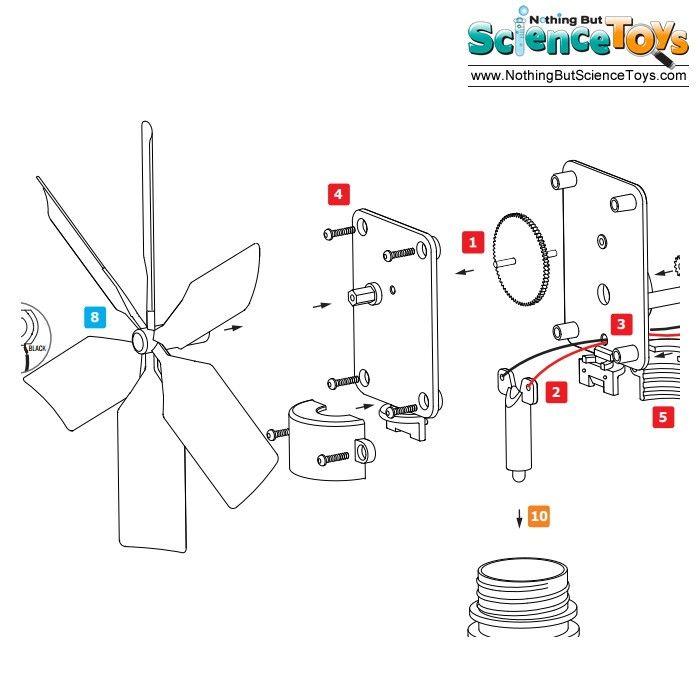 Toysmith 4M Kidz Labs Green Science Windmill Generator LED