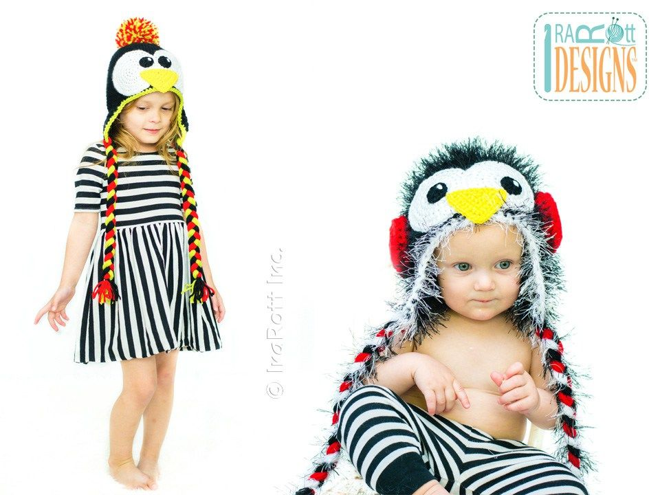 PDF Pattern for making a Penguin Hat with Earmuffs | Crochet ...