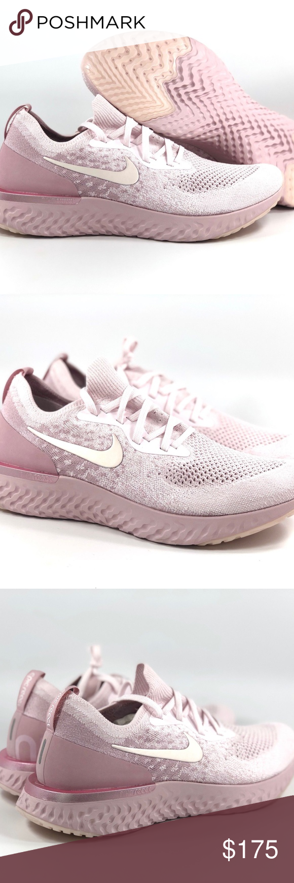 ea1332d87cebd Nike Epic React Flyknit Pearl Pink Barely Rose Nike Epic React Flyknit  Pearl Pink Barely Rose