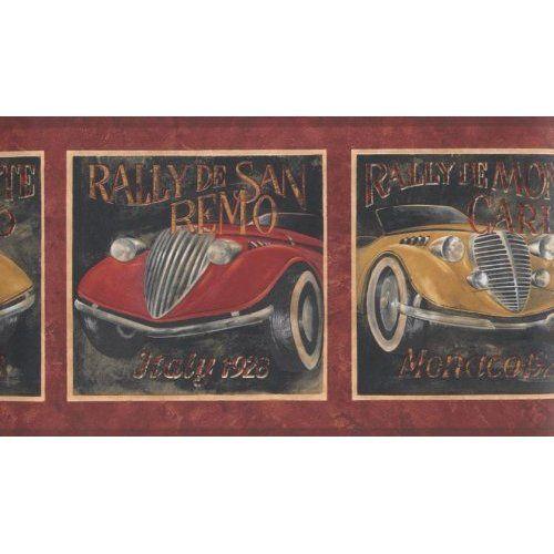Vintage 1920 Opean Rally Race Cars Wallpaper Border Home Kitchen Car Wallpapers Wallpaper Border Rally Racing