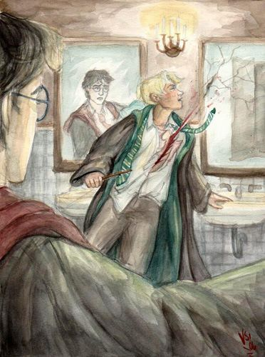 Sectumsempra The Harry Potter Companion Desenhos Harry Potter Arte Do Harry Potter Ilustracoes