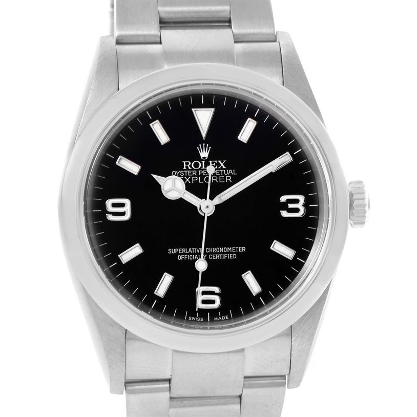 Rolex Explorer I Black Dial Stainless Steel Automatic Mens Watch 114270