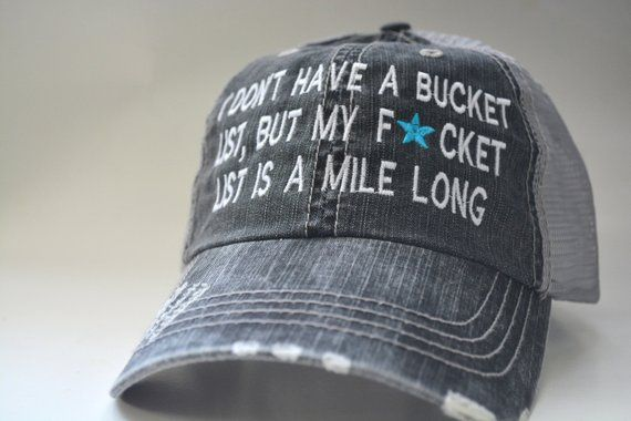 Funny sarcasm saying cap distressed Women s Trucker Hat Personalized  Embroidered Cap Bucket list Mesh Cap embroidered be2f5dba5d