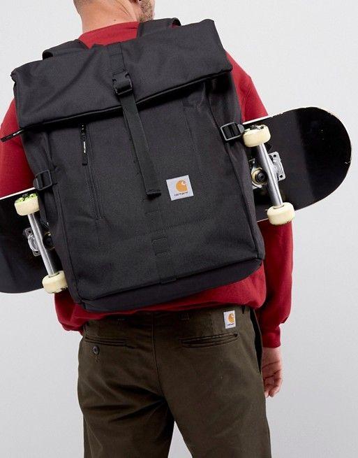 Carhartt WIP Phil Backpack In Black | Carhartt wip, Carhartt and Backpacks