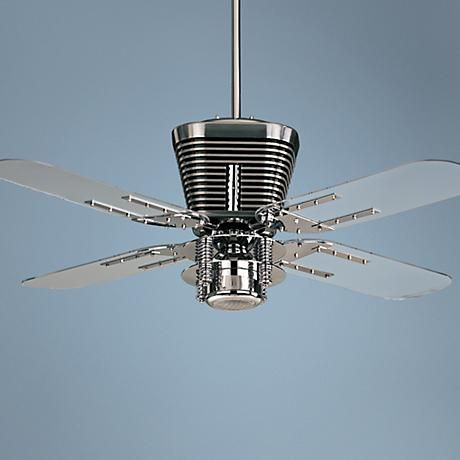 52 Quorum Retro Chrome Ceiling Fan With Light Kit Fan Light