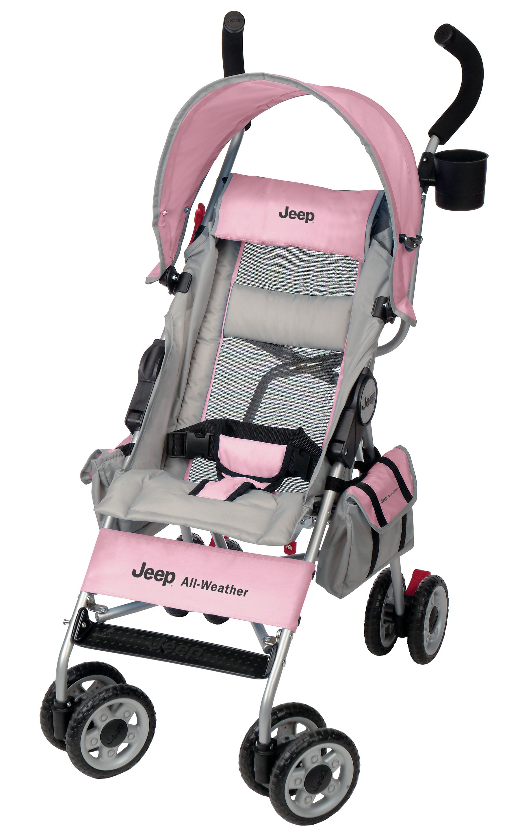Jeep Wrangler All Weather Umbrella Stroller Pink Features Very