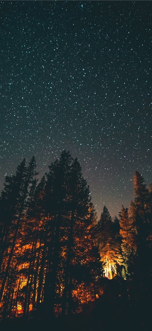 nightlight iPhone X wallpaper night sky star explore