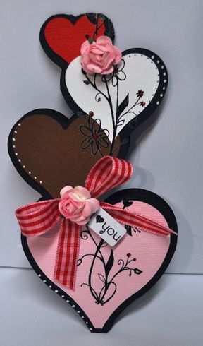 Heart shaped card | Shaped cards, Handmade valentine, Valentines cards