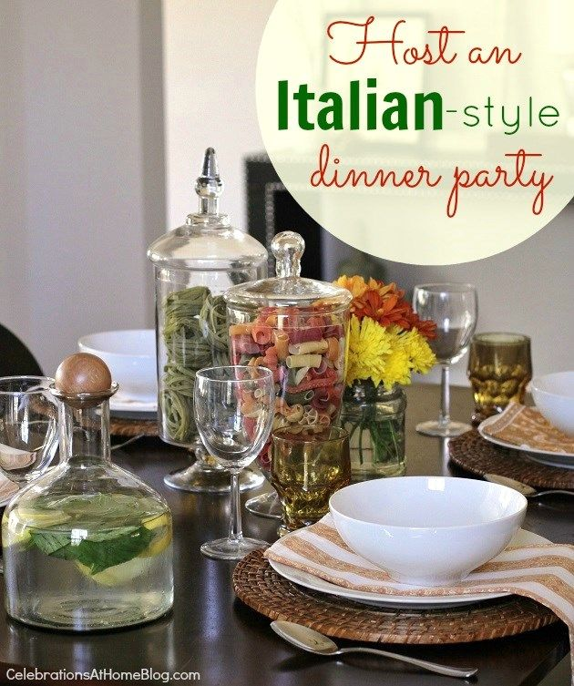 Entertaining italian themed dinner party ideas themed for Italian dinner