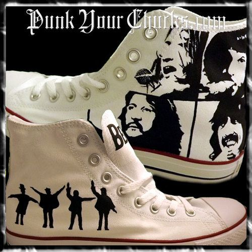 60b8290c159c Beatles Custom Converse Sneakers