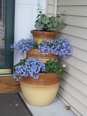 stacked pots planter