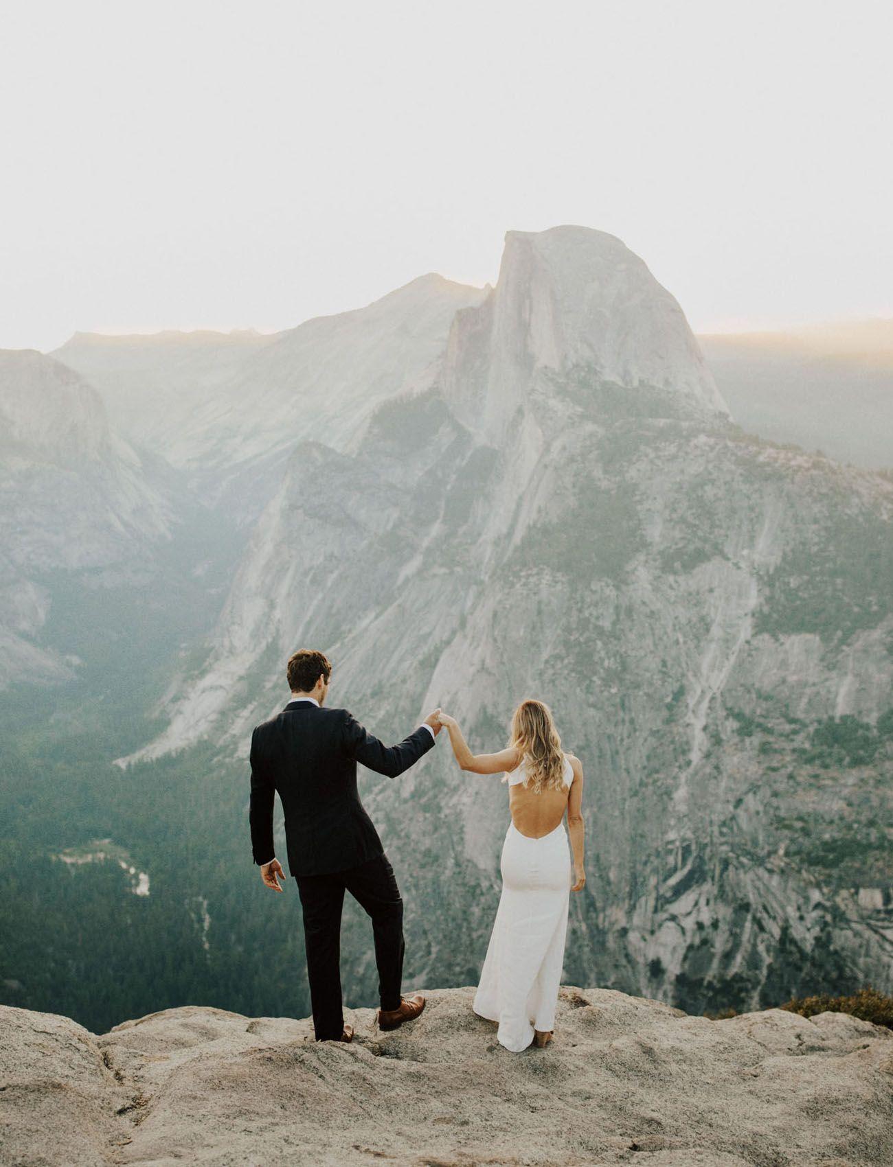 Yosemite Wedding With A Stunning First Look At Glacier Point Green Wedding Shoes Yosemite Wedding Campground Wedding Yosemite