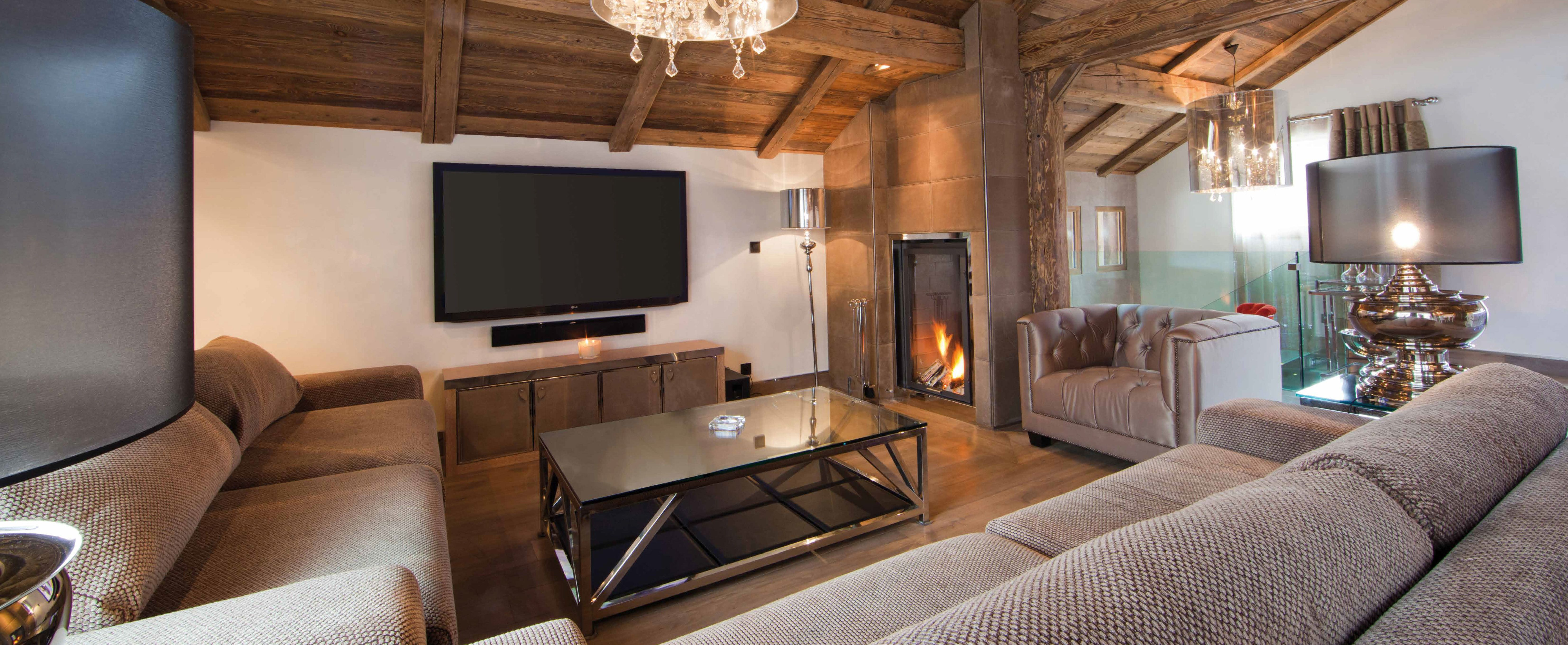 living room -sofa -chalet -luxury chalet -ikhome -construction ...