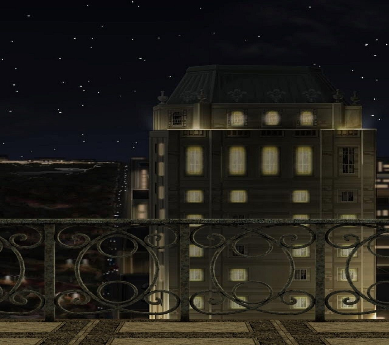 Apartment Building At Night ext. apartment balcony night med #episodeinteractive #episode size