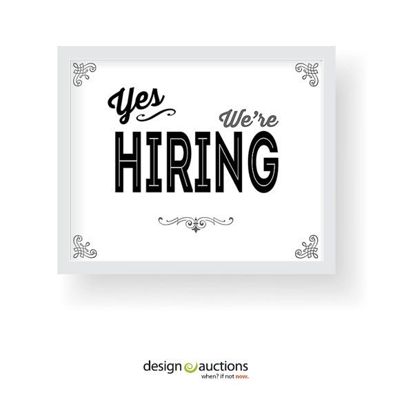photograph about Now Hiring Sign Printable identified as Pin upon WWW