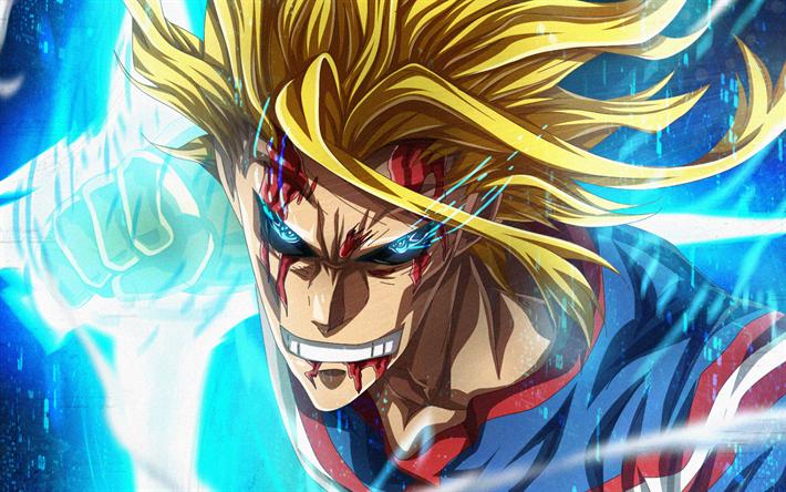 Download wallpapers Toshinori Yagi, blue eyes, My Hero