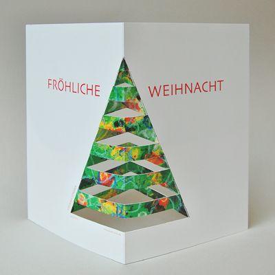 coole einfache idee f r eine weihnachtskarte basteln. Black Bedroom Furniture Sets. Home Design Ideas