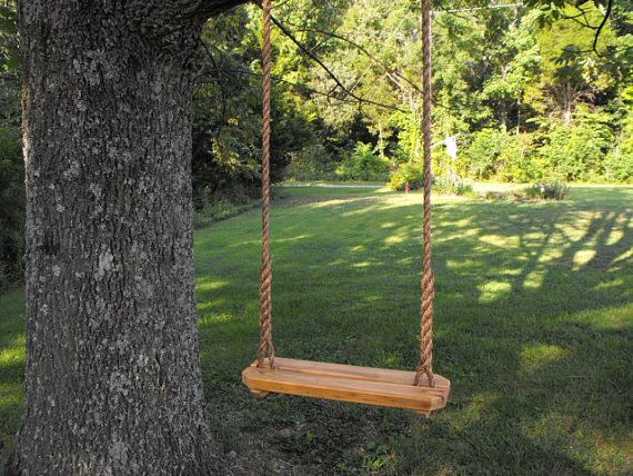 Rope Swing Tree Swing Recycled Reclaimed Rustic Lumber Children And Adults Tree Swing Rope Swing Weeping Willow Tree