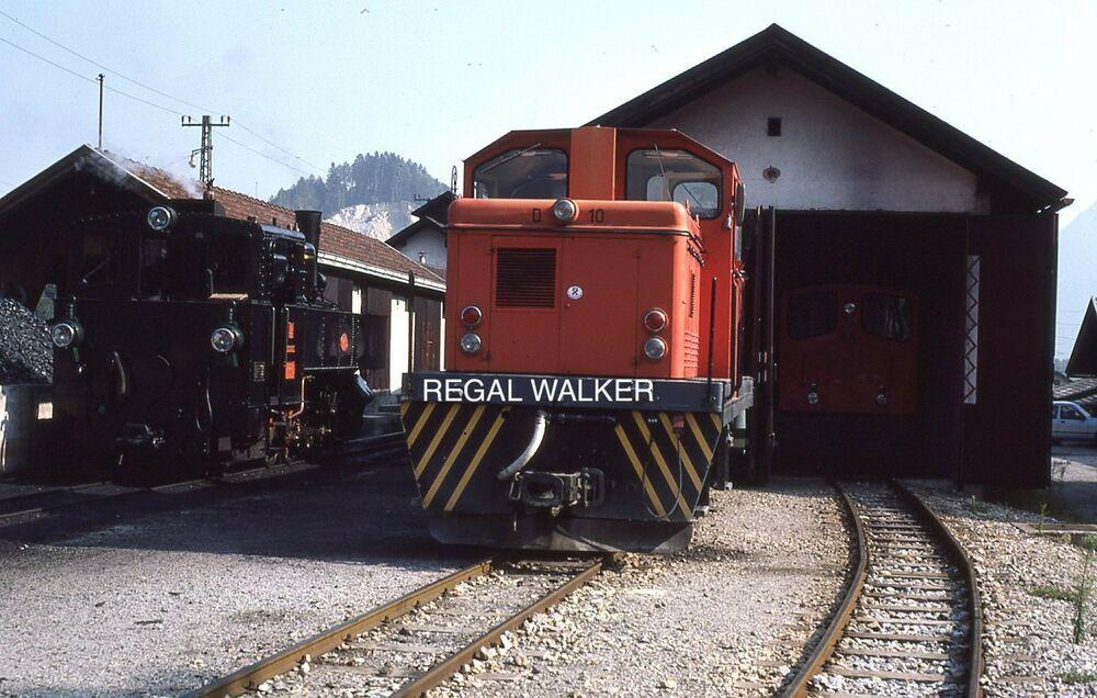 ORIGINAL 35MM OBB AUSTRIA AUSTRIAN RAILWAY SLIDE NO3 & D10 AT ZILLERTALBAHN 1985