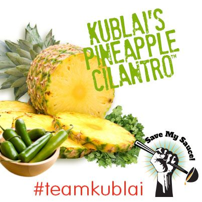 My favorite Sauce of the Season has a chance to become a permanent offering at HuHot! #SaveMySauce #TeamKublai