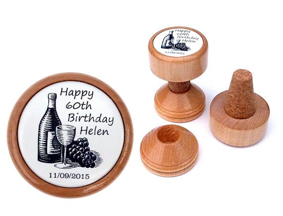 60th Birthday Gift Ideas For Mom India Gift For Her Wine Stopper Personalised Wine Gift 60th Birthday Present Birthday Gift 60th Birthday Gifts Personalized Wine Stoppers 80th Birthday Gifts