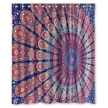 Shes Called Sunshine Hippie Mandala Shower Curtain 60x72 Inch Amazonde Kuche Haushalt