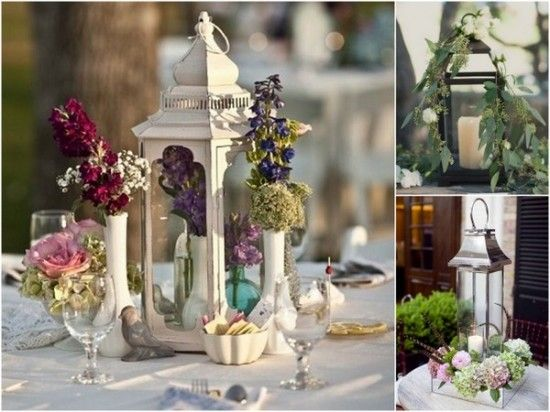 Spring wedding lantern centerpiece ideas