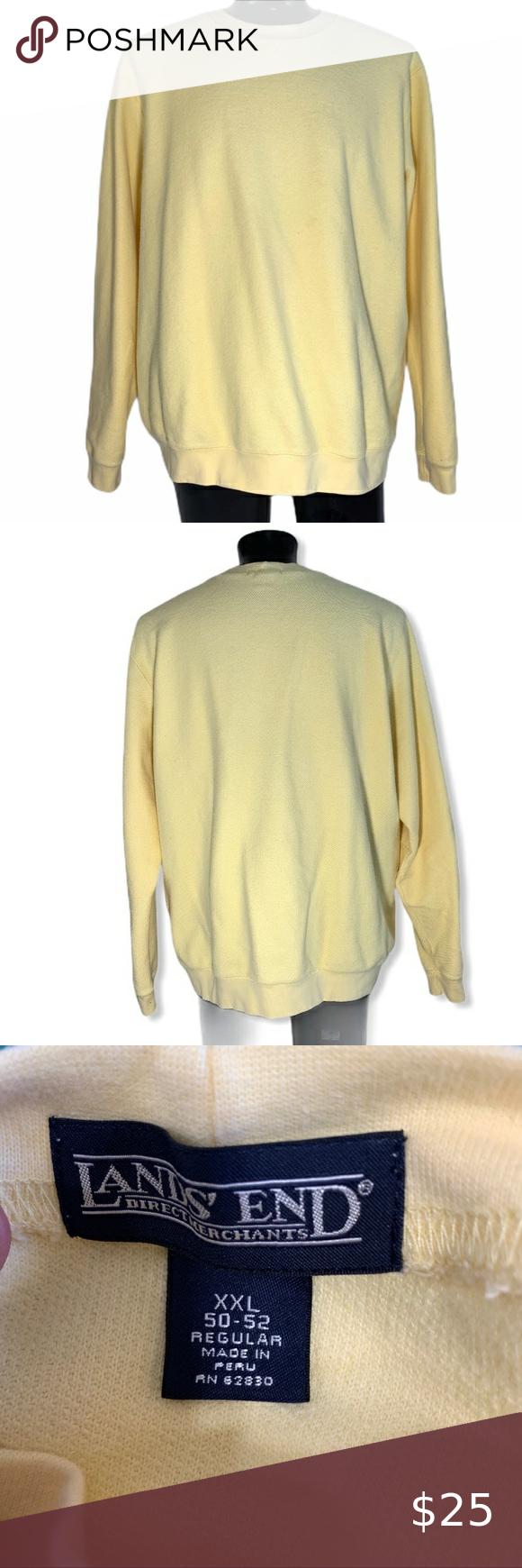 Lands End Cotton Sweatshirt Mens Xxl Cotton Sweatshirts Mens Sweatshirts Clothes Design [ 1740 x 580 Pixel ]