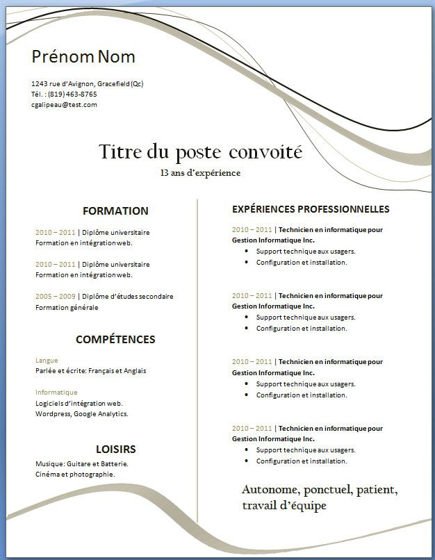 modele cv open office mac télécharger modele cv vierge gratuit telecharger | Modèle de cv  modele cv open office mac