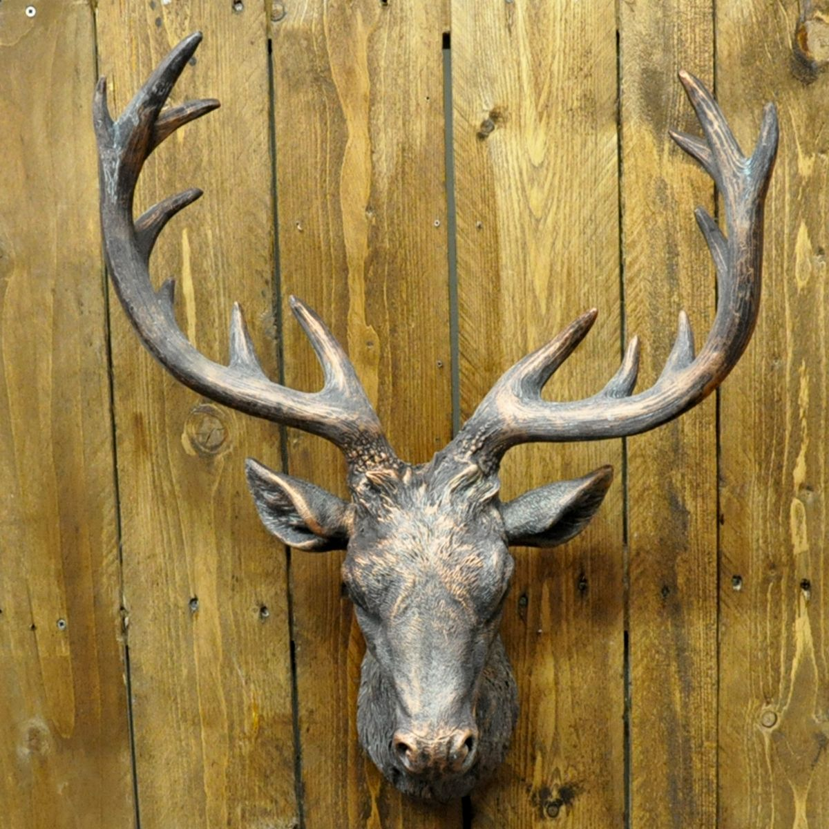 Bronze Painted Deer Stags Head | HAVE to have it! | Pinterest | Stag ...