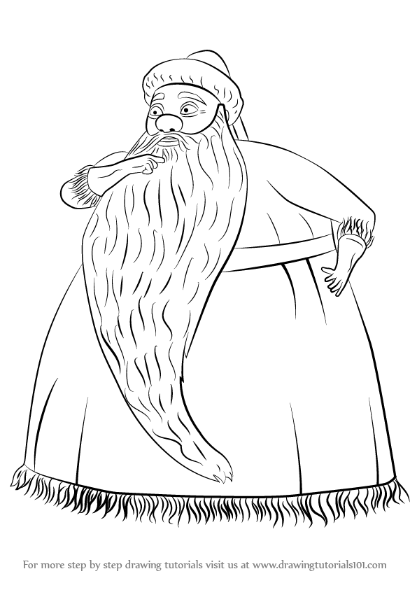Learn How to Draw Santa Claus from The Nightmare Before Christmas ...