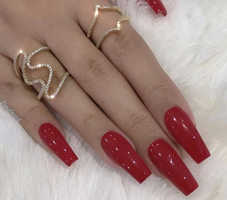 Pinterest Thequeensamm Red Acrylic Nails Red Nails Long Red Nails
