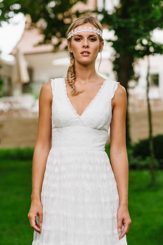 Brautkleid Hippie Style mit V-Ausschnitt – mit unserer Dana steht du ...