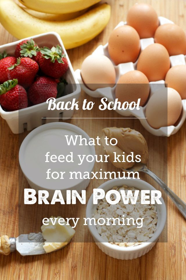 Breakfasts for School Brain Power Great list of breakfast ideas to give kids energy to pay attention and focus all day long.Great list of breakfast ideas to give kids energy to pay attention and focus all day long.