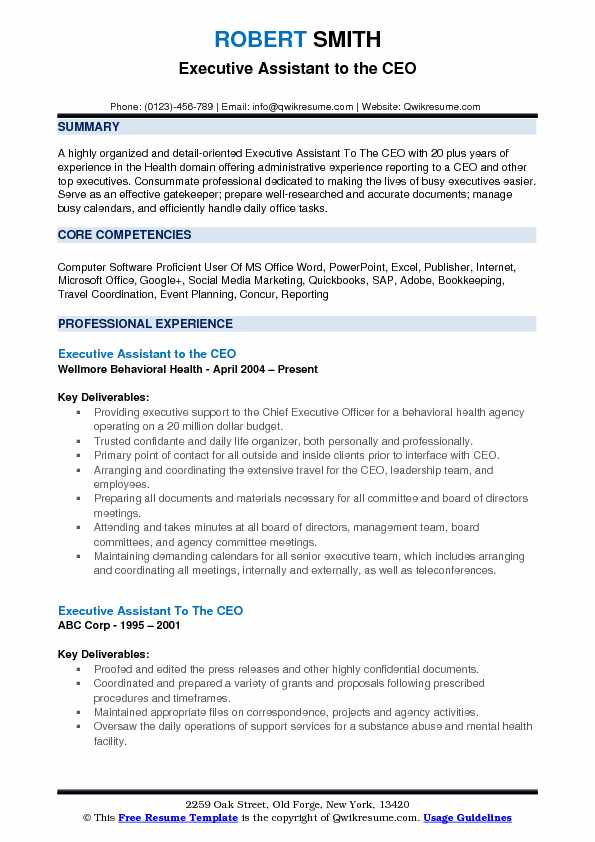 Executive Assistant To The Ceo Resume Samples Qwikresume Administrative Assistant Resume Executive Assistant Resume Summary