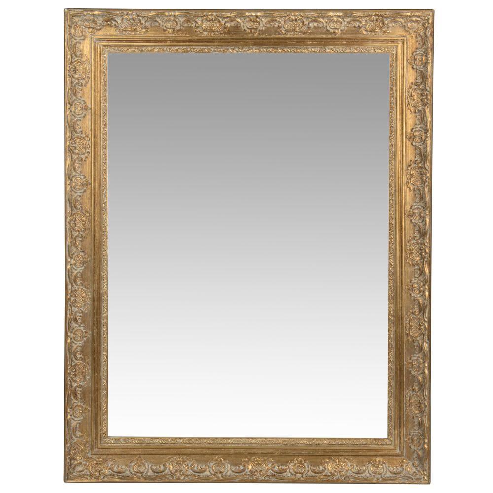 Miroir en paulownia doré 70x90 Valentine Specchio con