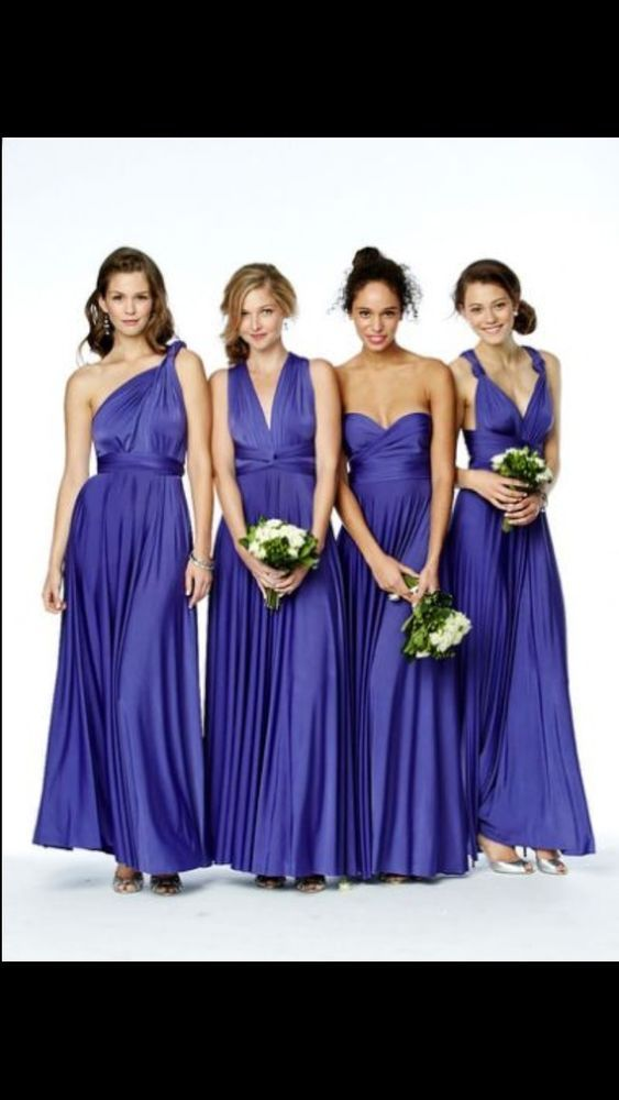 Dessy Bhs Two Birds Twist And Wrap Royal Blue Bridesmaid Dresses X 5 ...