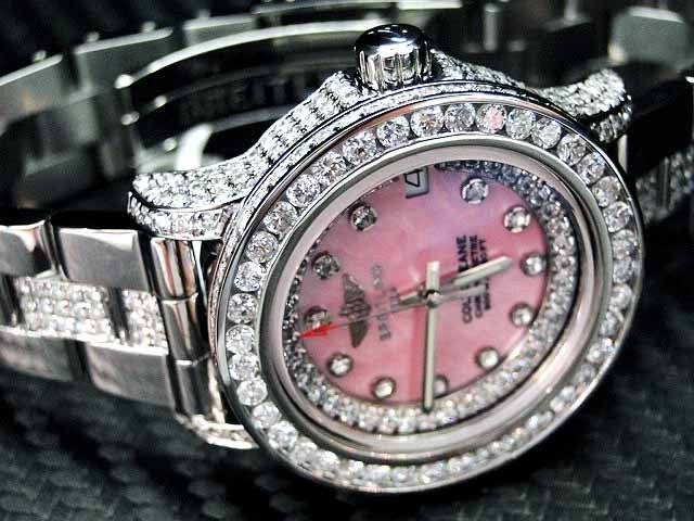 Woman's Ladies Diamond Breitling Watch Colt Custom Bezel Stainless steel  this is The watch ladies!