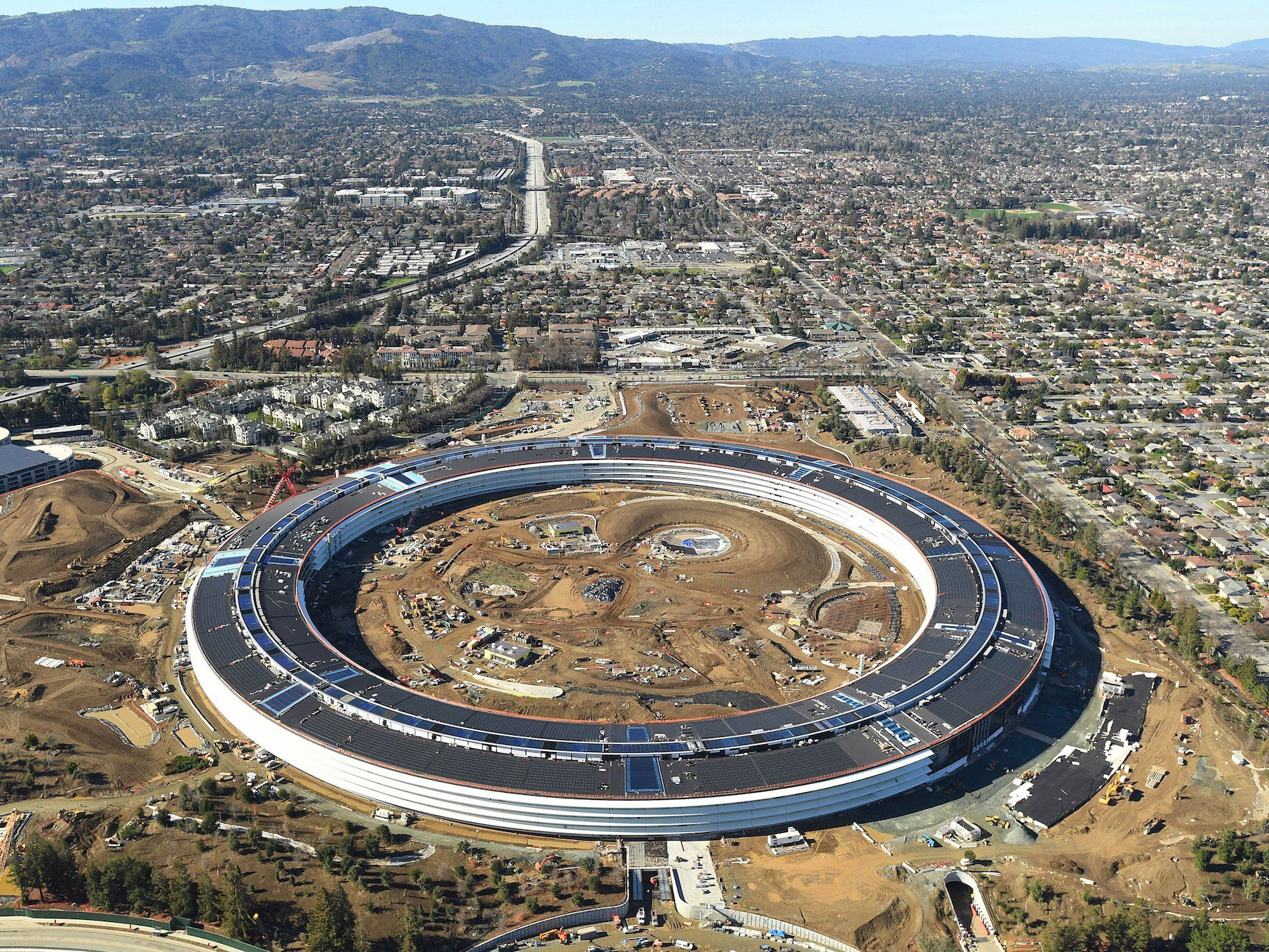 Cupertino Calif forever Apple s hometown to pitch plans for a gigantic new headquarters building that looked like a UFO planted in a serene for…