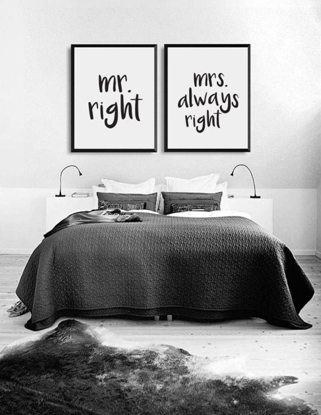 Poster für das Schlafzimmer Herr und Frau Bedrooms, Interiors - bilder für schlafzimmer