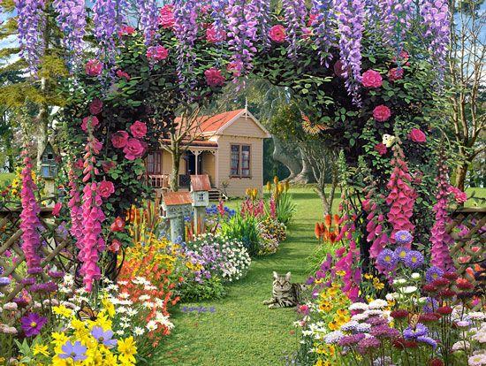 Small Garden Decoration Ideas Photograph Cottage Garden De