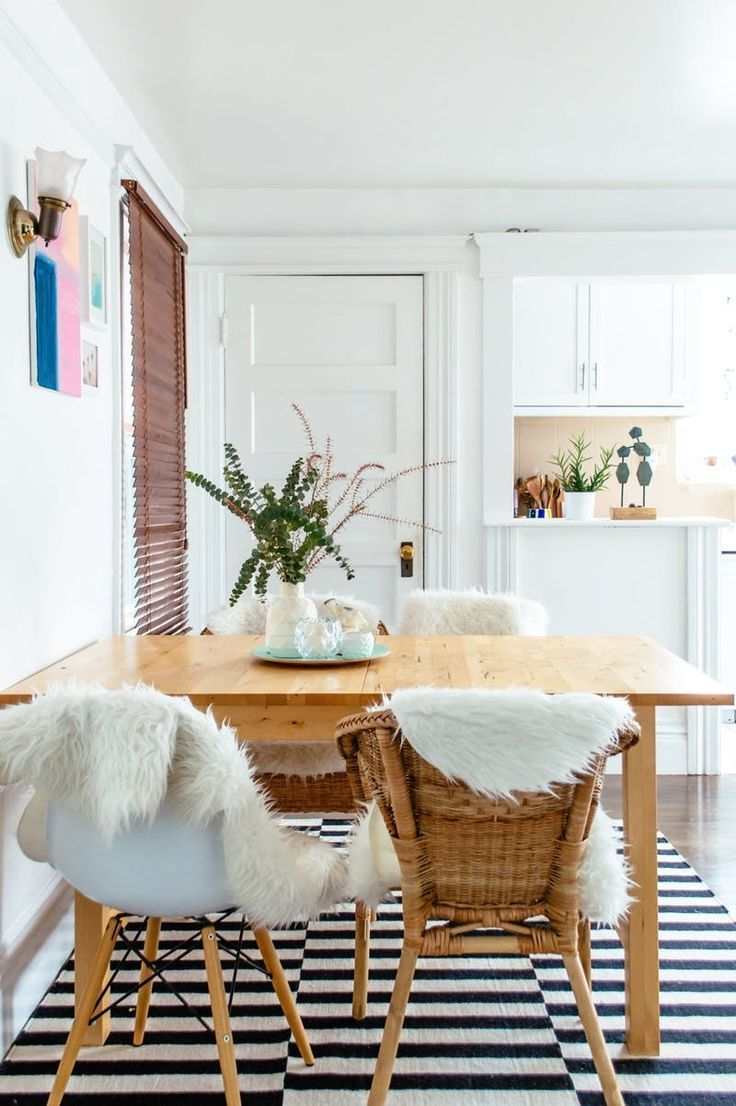 california dining room interior design House Tour: A Bright u0026 Organic California Apartment   Apartment Therapy