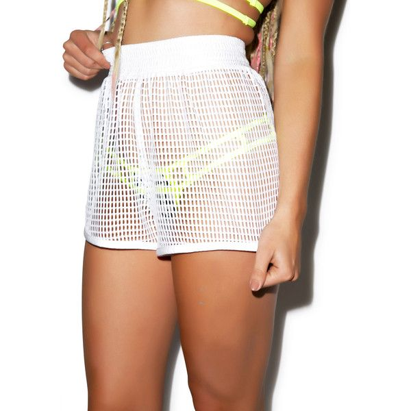 Hot!MeSS Mesh Short ($55) ❤ liked on Polyvore featuring shorts