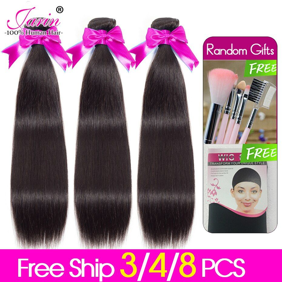 3-4-8 Bundles Deal Malaysian Straight Hair Weave Natural Color Human Hair Extension 8 to 28 Inch Remy Hair Bundle Can Be Dyed